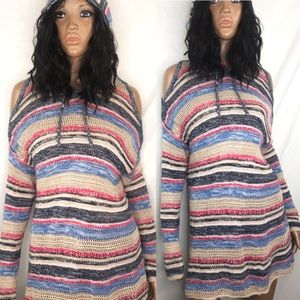 Torrid Stripe Knit Tunic Hoodie